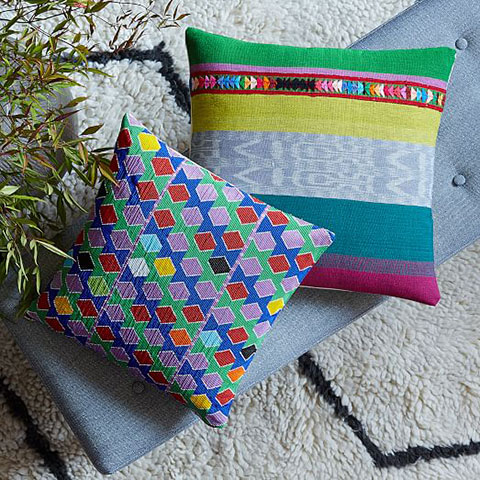 beaded-multicolor-hexagon-pillow-cover