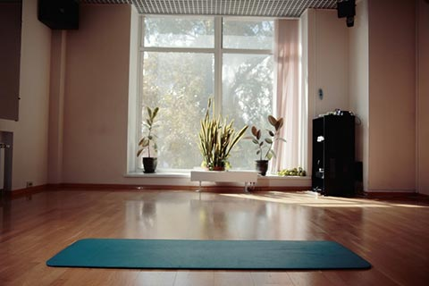 Room to breathe turn your spare room into a yoga studio for How to make a yoga room