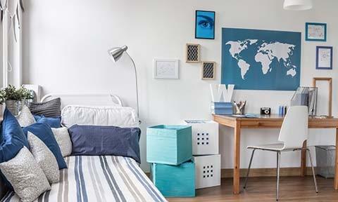 Slaapkamer Ideeen Student : Tips om een kleine studenten kamer mooi in te richten