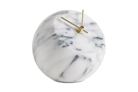 Marble-and-glass-ball-clock